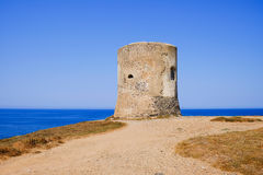 The Pittinuri tower in Oristanno Sardinia, Italy. Royalty Free Stock Images