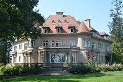 The Historic Pittock Mansion of Portland, Oregon. The Pittock Mansion is a French Renaissance-style château in the West Hills of Portland, Oregon, USA. The royalty free stock images