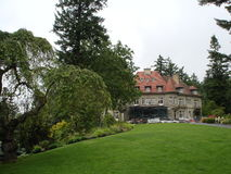 Pittock Mansion. The Pittock Mansion in landscape. Historic home in French Renaissance-style château in the West Hills of Portland, Oregon, USA Stock Photos