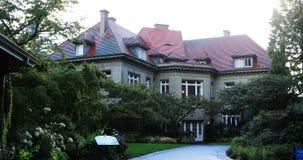 Pittock-Villa in Portland, Oregon 4K stock footage