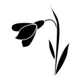 Pittogramma decorativo dell'icona del fiore di Amaryllis illustrazione di stock