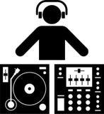 Pittogramma del DJ Fotografia Stock Libera da Diritti