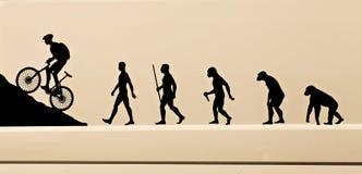 Pittogramma dell'evoluzione dell'uomo Fotografia Stock