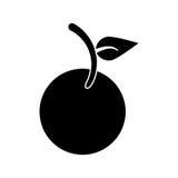 Pittogramma dell'icona di nutrizione del vegano della frutta Immagine Stock