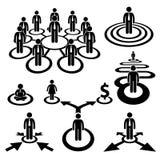 Pittogramma della squadra della mano d'opera dell'uomo d'affari di affari Fotografie Stock Libere da Diritti