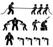 Pittogramma di combattimento dell'operaio di affari Fotografia Stock Libera da Diritti