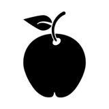 Pittogramma di dieta di salute della frutta della pera Fotografia Stock