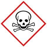 Pittogramma di rischio tossico immagine stock