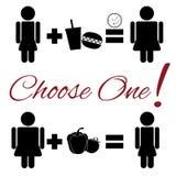 Pittogramma di scelta di stile di vita Immagini Stock Libere da Diritti