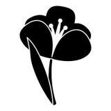 Pittogramma floreale della molla della pianta del croco illustrazione di stock
