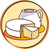 Pittogramma - prodotti lattier-caseario Immagine Stock Libera da Diritti