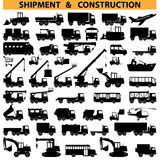 Pittogrammi dei veicoli industriali di vettore Fotografie Stock