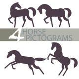 Pittogrammi del cavallo Fotografie Stock Libere da Diritti