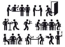 Pittogrammi del ristorante Fotografia Stock