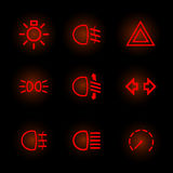 Pittogrammi dell'automobile Fotografia Stock