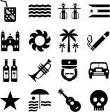 Pittogrammi della Cuba Fotografia Stock Libera da Diritti