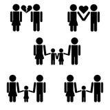 Pittogrammi della famiglia Fotografia Stock Libera da Diritti