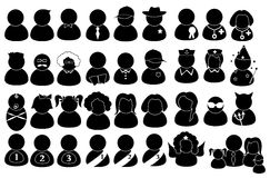 Pittogrammi della gente Fotografia Stock