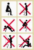Pittogrammi delle toilette di Soci Fotografia Stock Libera da Diritti
