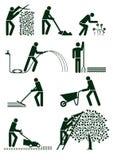 Pittogrammi di giardinaggio Fotografia Stock Libera da Diritti