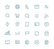 Pittogrammi moderni di applicazione del cellulare e di web royalty illustrazione gratis