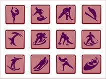 Pittogrammi olimpici Fotografie Stock Libere da Diritti