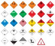Pittogrammi pericolosi - segni delle merci Fotografia Stock Libera da Diritti