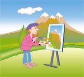 Pittore Illustrazione di Stock