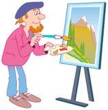 Pittore Illustrazione Vettoriale