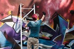 Pittore dei graffiti Immagini Stock Libere da Diritti