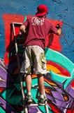 Pittore dei graffiti Fotografie Stock