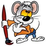Pittore del mouse Immagini Stock Libere da Diritti