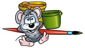 Pittore del mouse Fotografie Stock