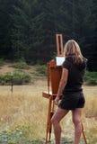 Pittore dell'aria di Plein Fotografie Stock Libere da Diritti