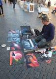 Pittore della via Fotografia Stock Libera da Diritti