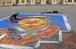 Pittore della via a Parigi Immagini Stock Libere da Diritti