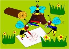 Pittore delle vespe Fotografia Stock