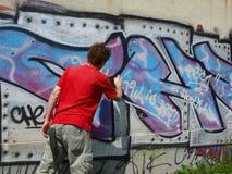 Pittore di Graffity Fotografia Stock