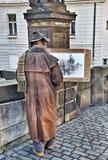 Pittore di Praga Fotografia Stock Libera da Diritti