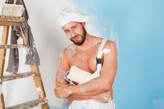 Pittore nudo sexy del petto Fotografie Stock Libere da Diritti