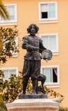 Pittore Statue Triana Seville Andalusia Spagna di Velaquez immagini stock libere da diritti