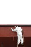 Pittore sulla scaletta Fotografie Stock