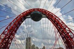 Pittoresk bro för Moskva royaltyfri foto