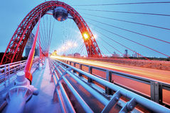 Pittoresk bro. Moscow. royaltyfria foton