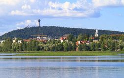 Pittoresk finlandssvensk town Royaltyfria Foton