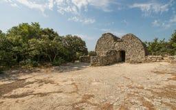 Pittoresk gammal by Bories nära Gordes i Provence, Frankrike Royaltyfri Bild
