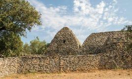 Pittoresk gammal by Bories nära Gordes i Provence, Frankrike Arkivfoton