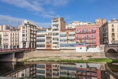 Pittoresk gammal stad av Girona Royaltyfria Foton