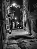 Pittoresk gata i Constanta, Rumänien fotografering för bildbyråer