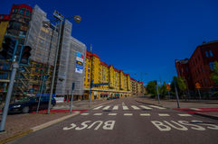 Pittoresk gata i i stadens centrum Göteborg Arkivbilder